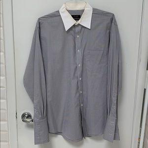 Tasso Elba white collar regular fit button down